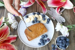 Roasted almond butter toast