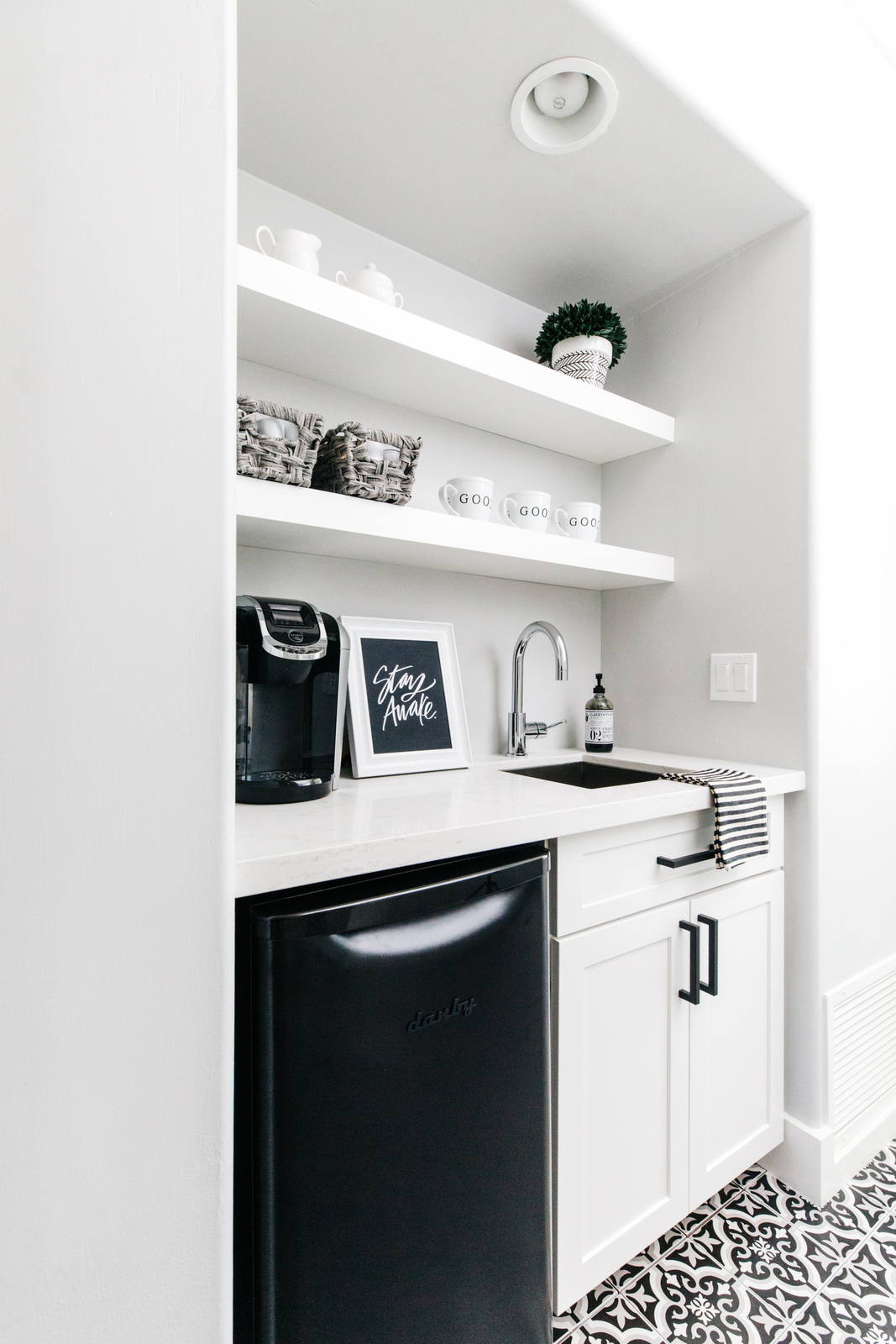 Our House Reveal Master Bedroom Coffee Bar  The TomKat
