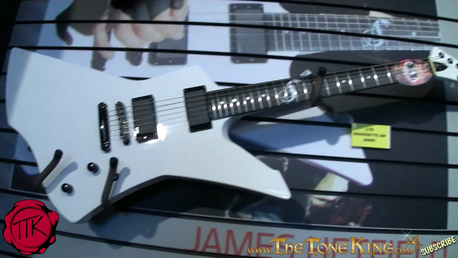 James Hetfield Guitar Wiring Diagram Electrical Diagrams Explorer Esp Ltd Snakebyte Signature Series The
