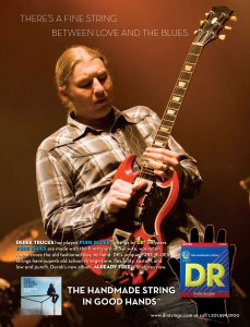 Derek Trucks DR Strings ad