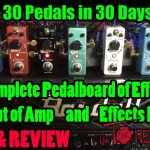 DONNER Effects - Full Pedaboard & Power - Demo & Review - 30 Pedals in 30 Days 2015