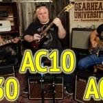 VOX AMP ROUNDUP!  AC10 vs. AC15 vs. AC30 - #TGU19