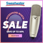 It's Microphone Month at Sweetwater!  Save up to 50% off!