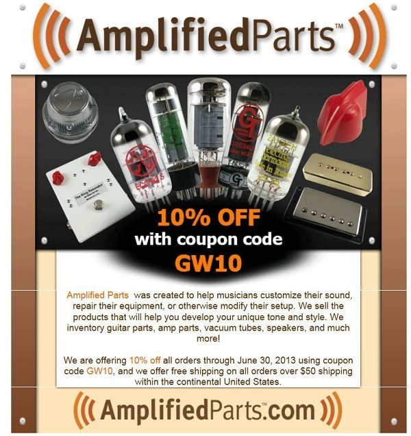 Today's top AmplifiedParts coupon: Sign Up for Special Offers. Get 4 coupons for