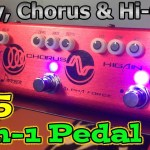 A $65 3-in-1 Delay, Chorus, Distortion Pedal by DONNER.  The Alpha Force Demo & Review.