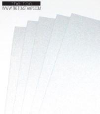 silver glitter full sheet