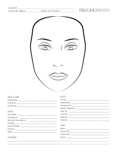 make-up, face chart