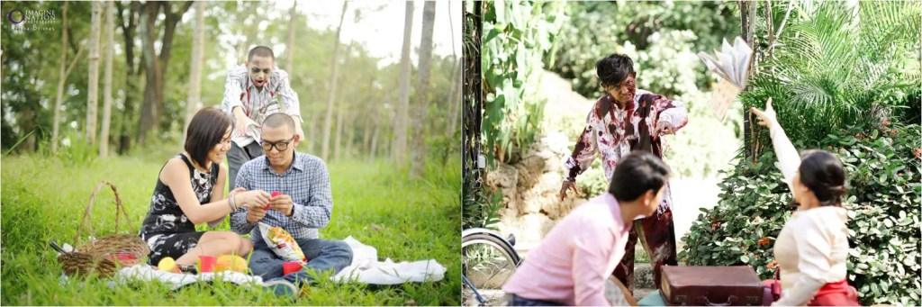 The Walking Dead, Photos by Arlene Briones (L) and Team Benitez Photo (R)