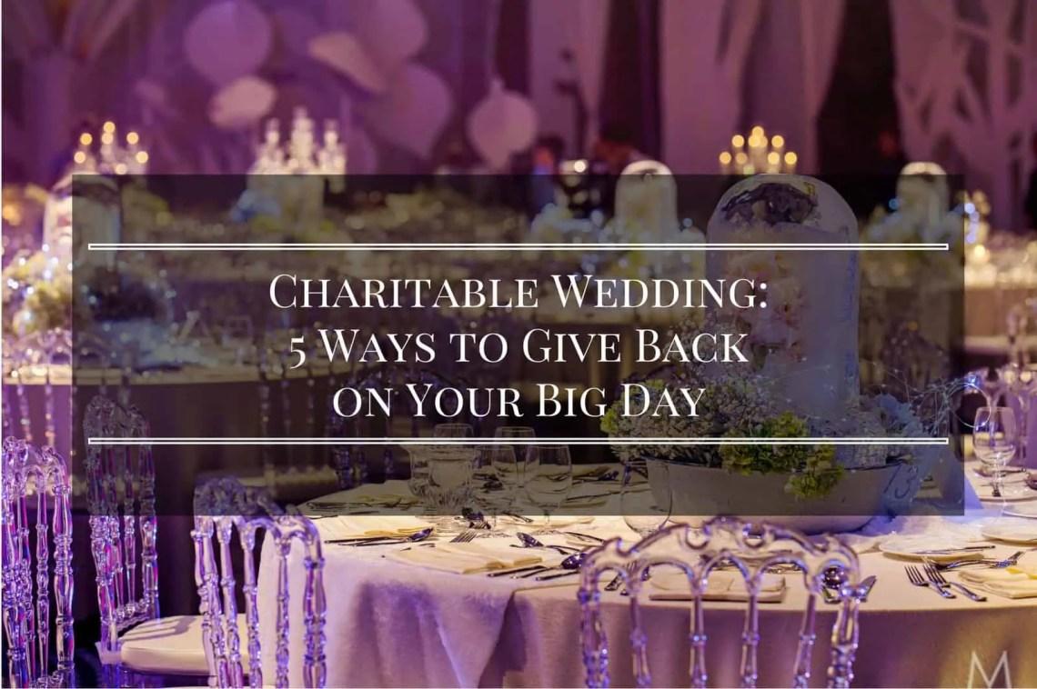 charitable wedding