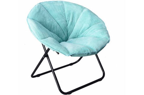 teal faux fur saucer chair white covers argos top 10 best oversized chairs for adults on sale reviews in 2019 mainstay comfortable plush folding