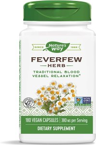 benefits of feverfew, what is feverfew, feverfew as a blood thinner, best natural blood thinner