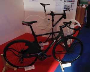 A bike outfitted with the Stebles cover and a cover on its own behind it