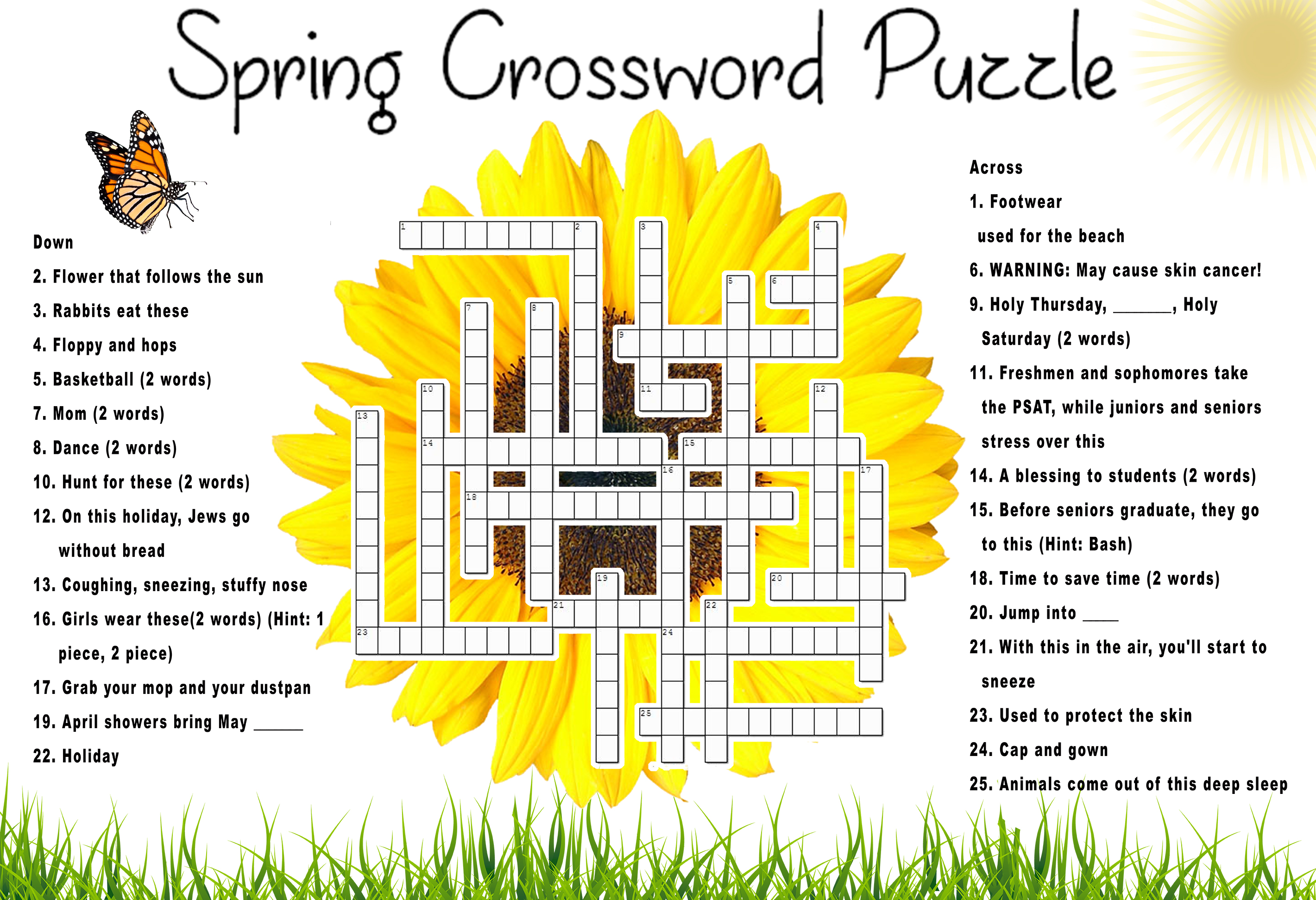 Jump Into The Spring Crossword The Tornado Times