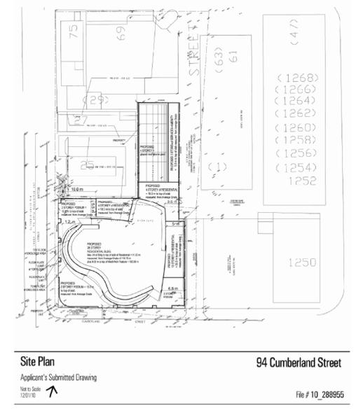 26 storey residential building proposed for 94 Cumberland