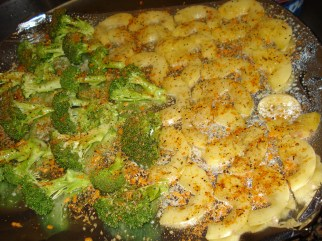 Seasonsed Broccoli and Melon