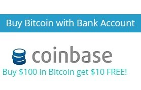 Buy $100 in Bitcoin and get $10 Free!