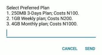 New MTN 4gb for N1000 1GB for N200