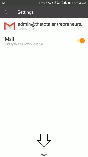 link your work domain email to Gmail app