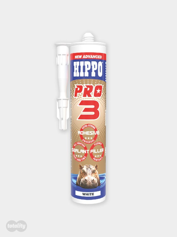 Hippo PRO3 Adhesive, Sealant and Filler Cartridge Crystal Clear