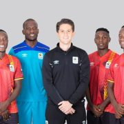 Cranes Players model new Umbro Jerseys