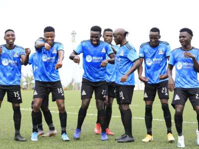Vipers SC players celebrate after scoring against Busoga United - StarTimes UPL 2021