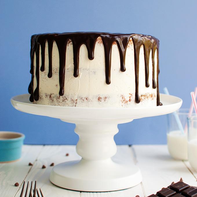 Vanilla Chocolate Chip Drip Cake  The Tough Cookie