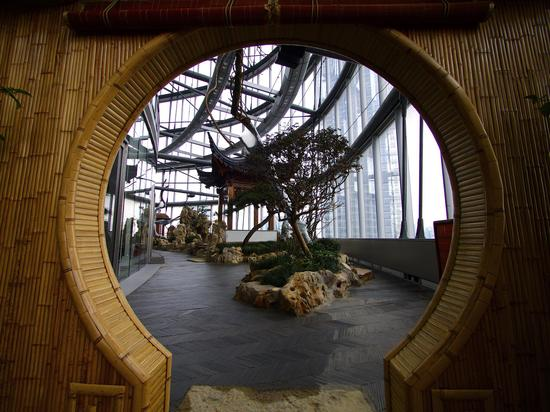 The world's highest Chinese traditional garden the Half acre Garden