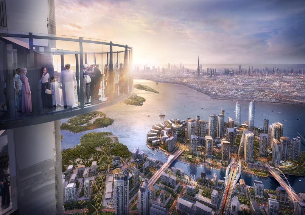 Dubai Creek Tower observation deck