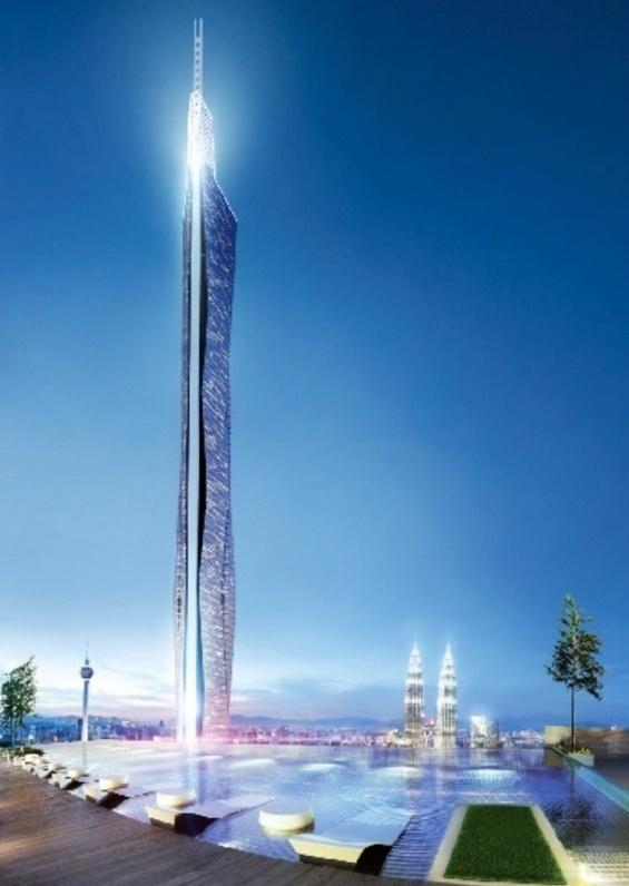 The former design of KL 118 Tower