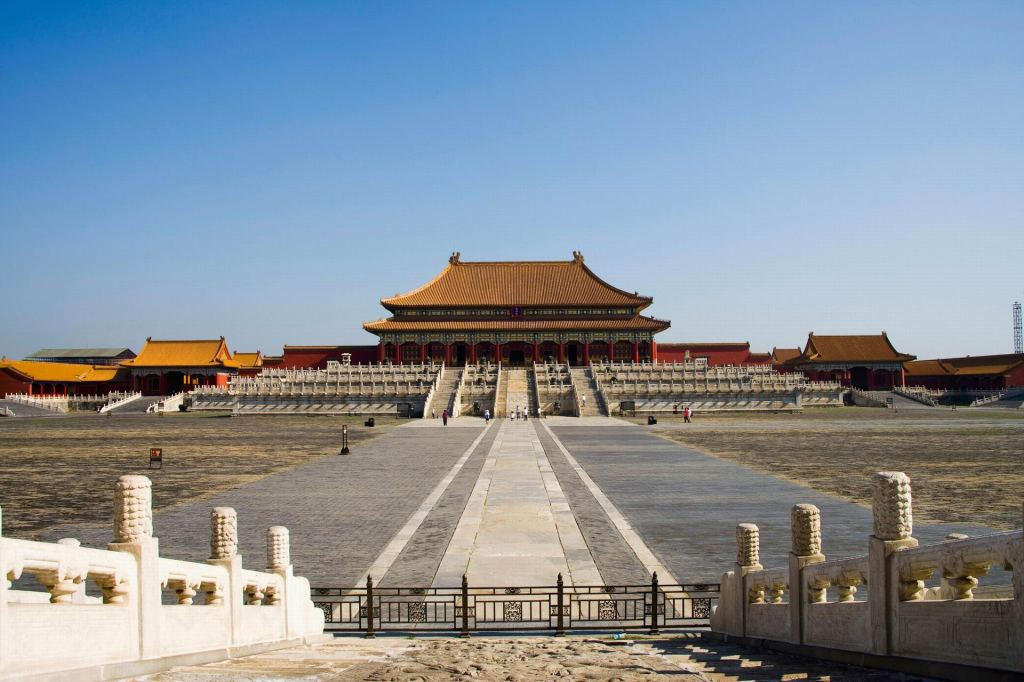 The Hall of Supreme Harmony and the courtyard