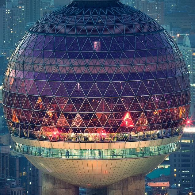 The upper large sphere of Oriental Pearl Tower