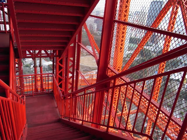 The stairway of Tokyo Tower