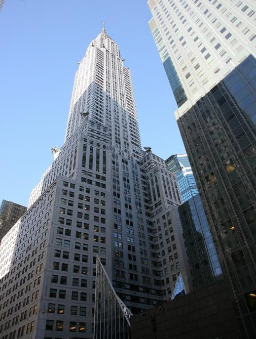 Looking up at Chrysler Building