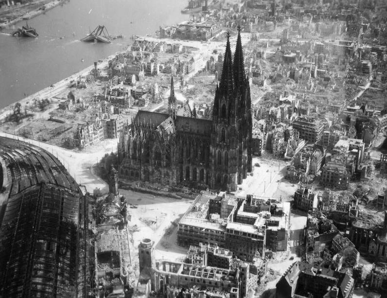 Cologne Cathedral during World War II