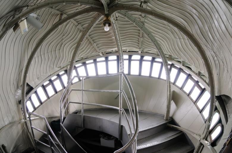 The interior view of crown of the Statue of Liberty
