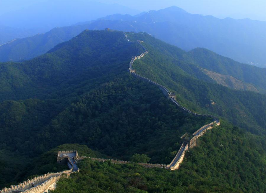 Aerial view of Mutianyu Great Wall