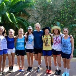 Some members of the girls lacrosse team at Hollywood Studios photo courtesy: Trish Reilly