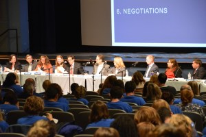 Parents, teachers, and students spoke at the board meeting on October 28. photo: Sarah Gavis-Hughson