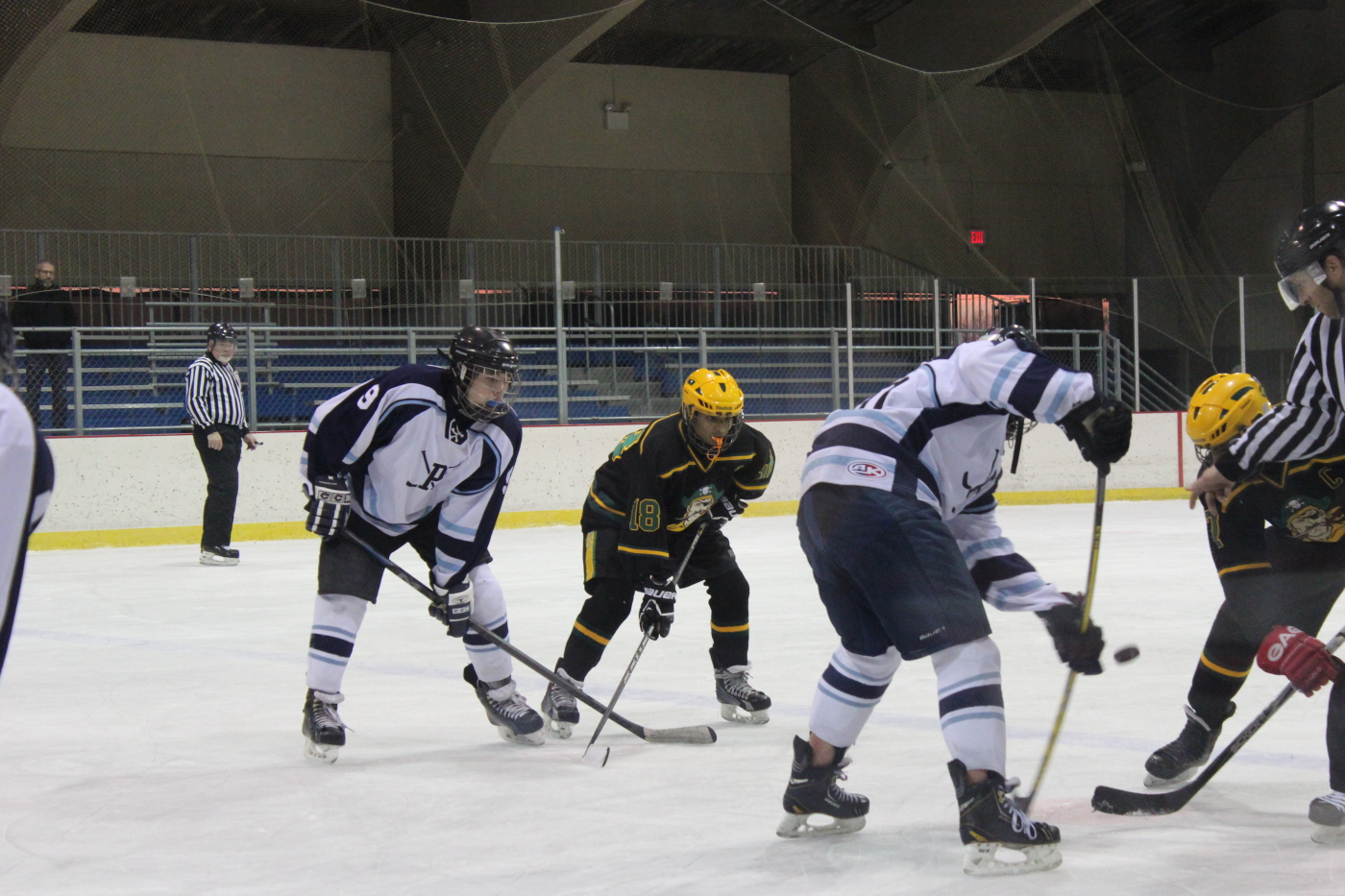 Brendan McCormick '17 faces off against Nottingham on December 3 at Mercer County Park. Photo: Julia Ward