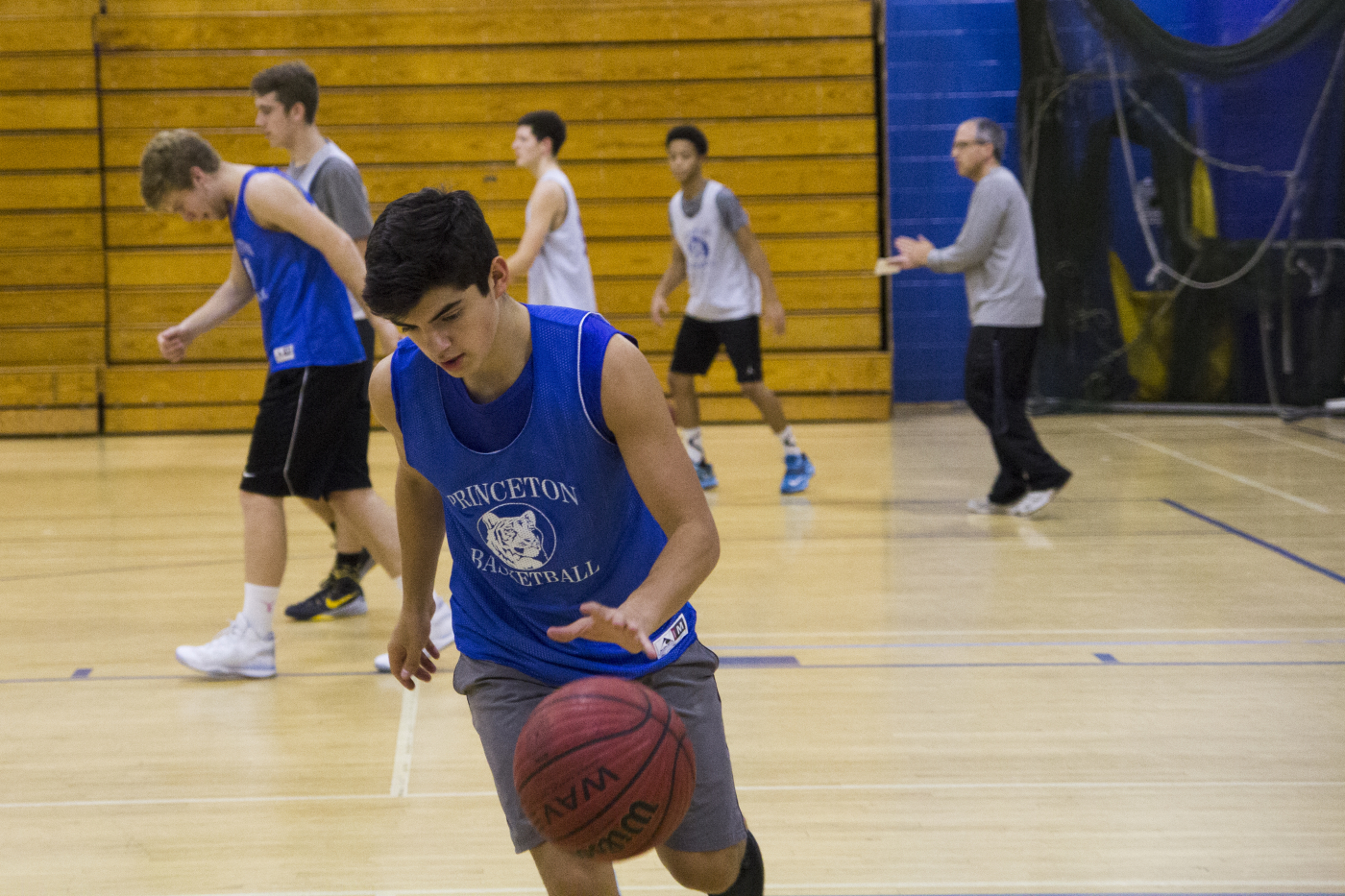 Cristobal Silva '17 and the rest of the team practice daily in the PHS gyms. Photo: Shreya Dandamudi