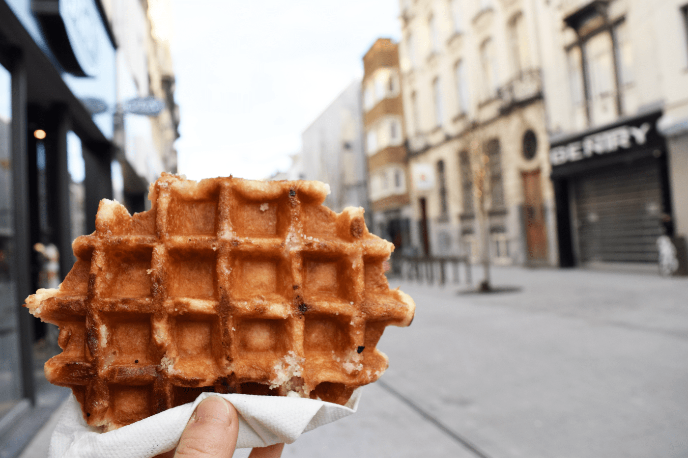 Musicians visited Mechelen to shop for chocolate, sightsee, and enjoy famous Belgian waffles before journeying to Delft, the Netherlands. (photo: Annie Kim)