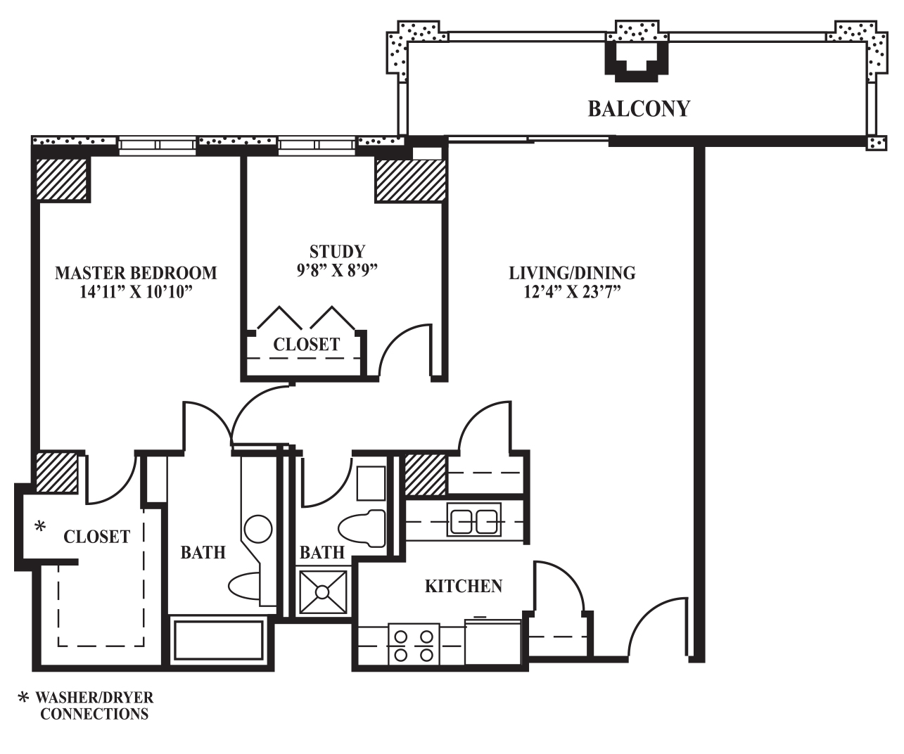 Floor Plan C 870 Sq Ft