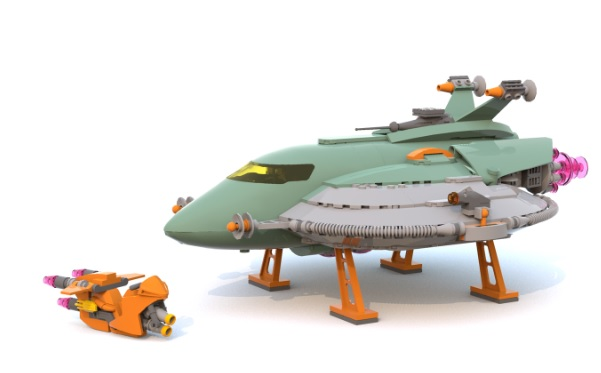 Retro Space Hero's Spaceship