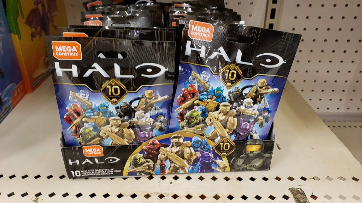 Mega Construx Halo 10th Anniversary Blind Bags Ratio in a Full Box