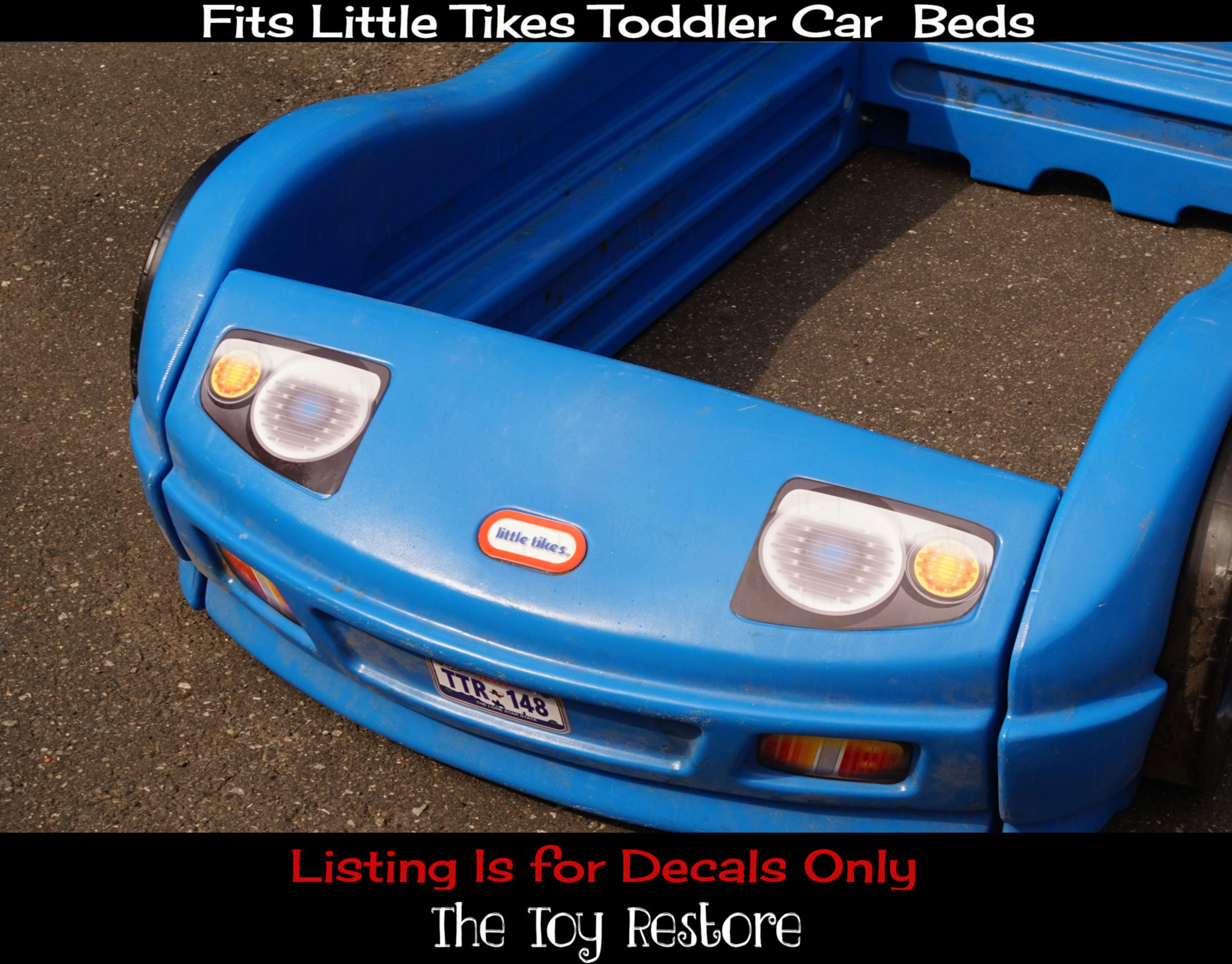 kids kitchen toys grohe faucets replacement decals fits little tikes blue toddler car bed ...