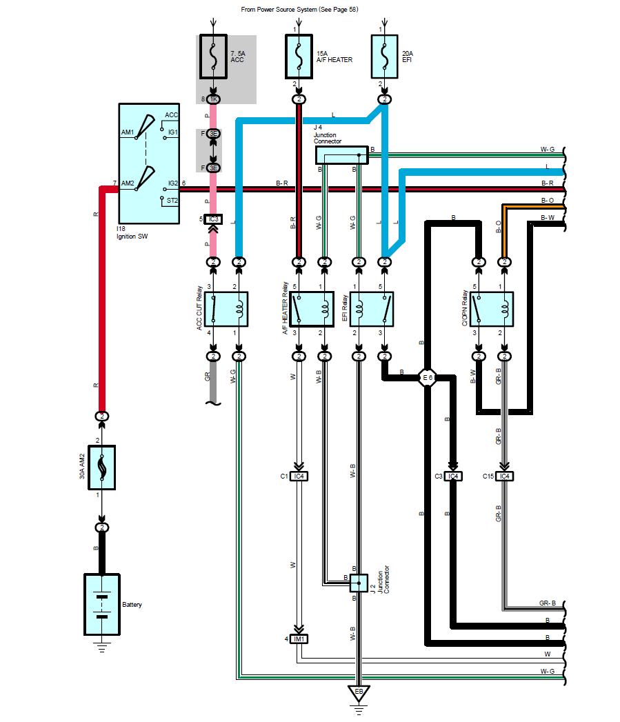 medium resolution of looking at the actual circuit diagrams for a 2003 toyota 4runner i saw the following diagram for the air fuel sensor system