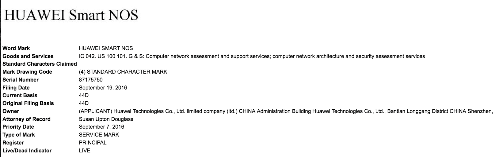 huawei-smart-nos-trademark-application-in-the-us-huawei-huawei-smartnos