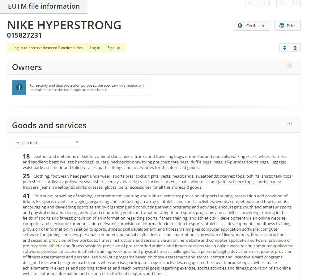 nike-hyperstrong-trademark-application