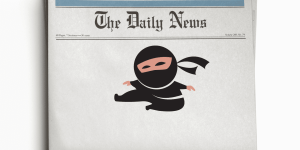 Trademark Ninja Newspaper