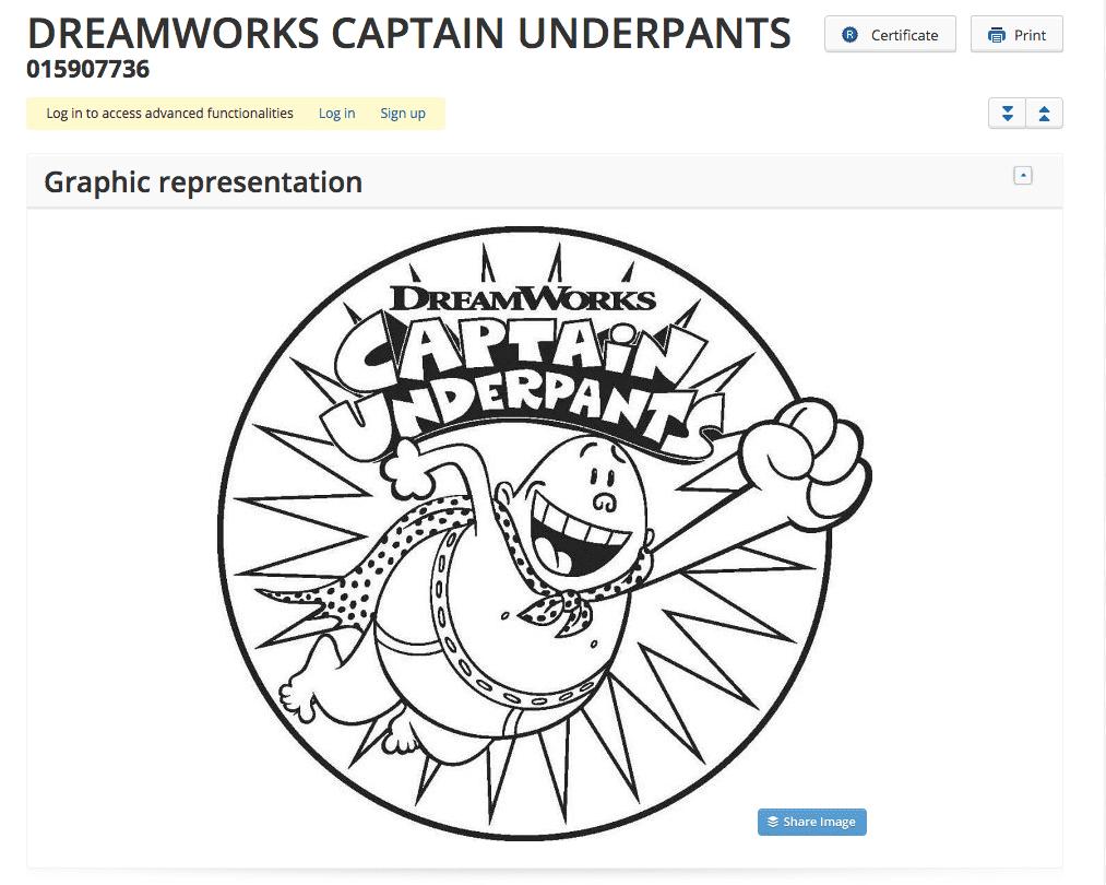 Dreamworks lodges EU Trademark Application for 2017 Movie Captain Underpants Dreamworks CaptainUnderpants